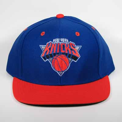 New York Knicks Snapback Cap Blue and Orange