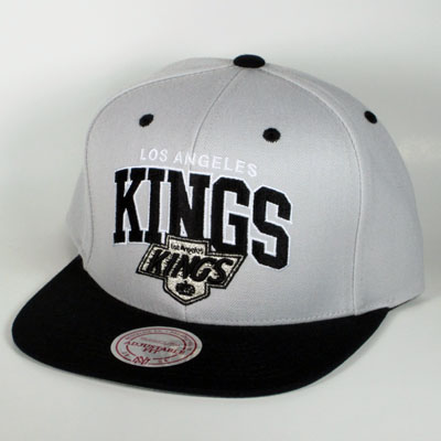 Los Angeles Kings Gray Mitchell & Ness  Snapback
