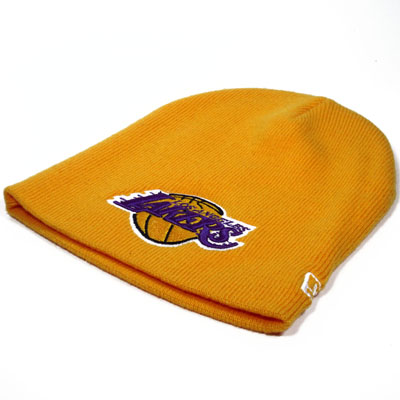 LA Lakers NBA Knit Beanie Yellow