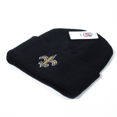 New Orleans Saints Knit Beanie Black 2
