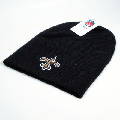 New Orleans Saints Knit Beanie Black