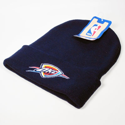 Oklahoma City Thunder NBA Knit Beanie Navy