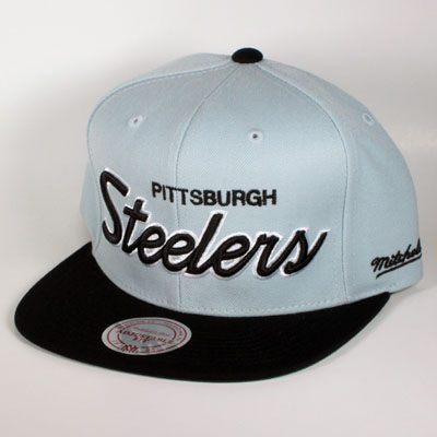 Pittsburgh Steelers Gray Mitchell & Ness  Snapback
