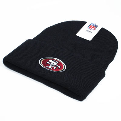 San Francisco 49ers NFL Knit Beanie Black