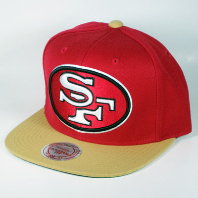 a651461ba ... coupon for san francisco 49ers big logo mitchell ness snapback a730c  7ba51